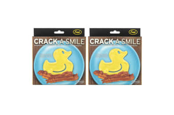 2x Fred Funny Side Up Rubber Ducky Breakfast Silicone Mould Egg/Pancake Shaper
