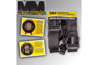 MEAN MOTHER UNIVERSAL STORAGE BAG BIN SPARE WHEEL MOUNTING HARNESS 4X4 MMSBH01
