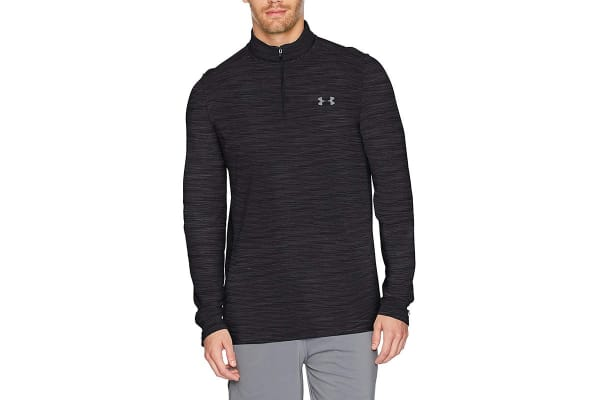 Under Armour Men's Threadborne Seamless 1/4 Zip, (Black/Graphite, Size Small)