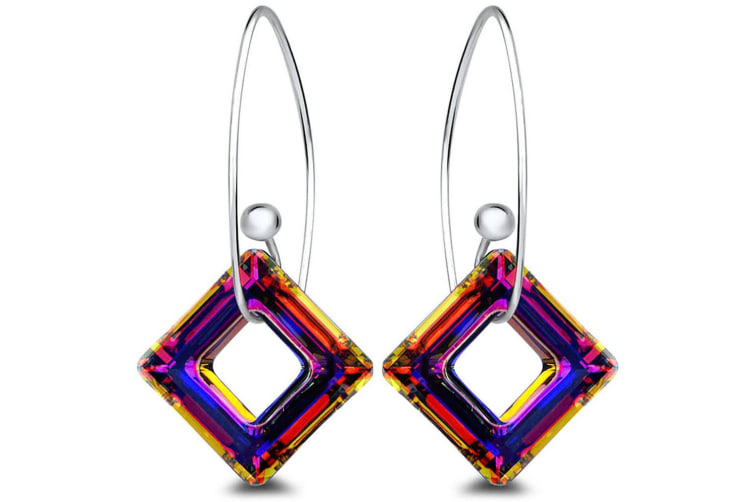 .925 Mystic Cube Hook V2 Earrings Silver/Multicolour