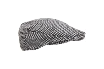 Mens Traditional Lined Flat Cap (Dogstooth)