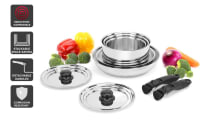 Ovela Moderno 10 Piece Stackable Stainless Steel Cookware Set - (OVCSTK10SSA) - Manual
