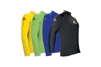 Adrenalin Junior 2P Thermo Shield Long Sleeve Rash Top - 14 - Aqua