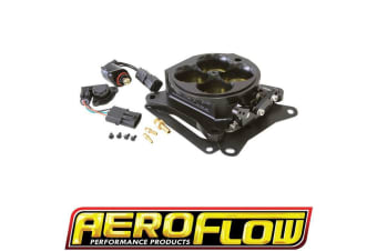 Aeroflow 4Bbl Throttle Body 1375Cfm Black 4150 / 4500 4Bbl