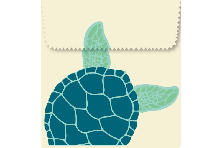 Karlstert Natural Beeswax Sandwich Pouch Turtle Set of 2