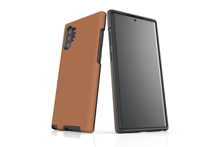 For Samsung Galaxy Note 10+ Plus Armor Case  Shockproof Back Cover in Brown