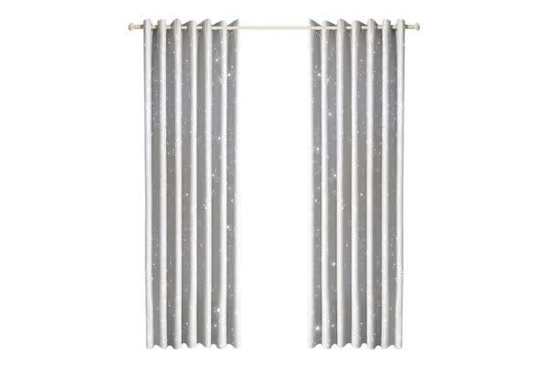Star Blockout Blackout Curtains 3 Layers Eyelet Pure Fabric Room Darkening 180x180cm