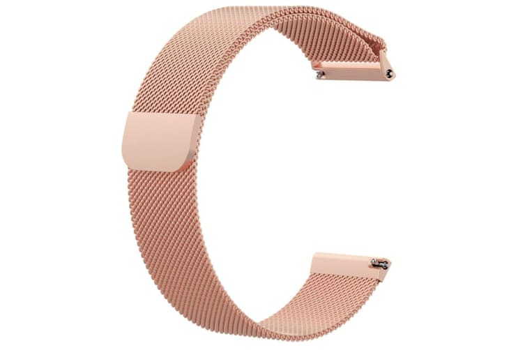 Milanese Loop Metal Replacement Bracelet Strap Wristbands For Fitbit Versa Fitness Smart Watch Rose Gold Large Size