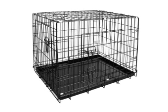 "Pawever Pets 36"" Collapsible Metal Dog Playpen / Crate"
