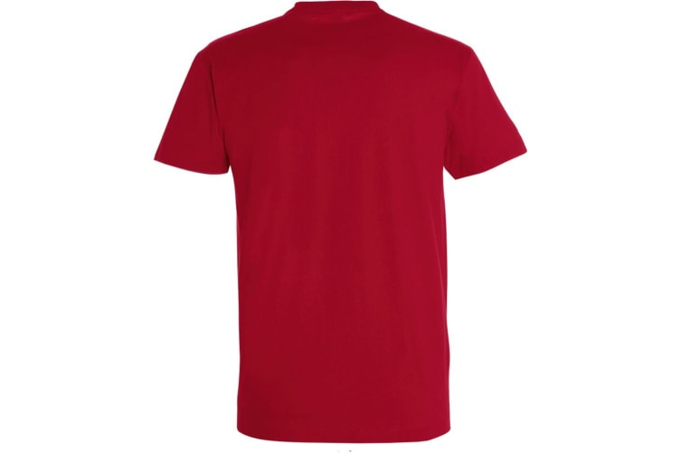 SOLS Mens Imperial Heavyweight Short Sleeve T-Shirt (Tango Red) (M)