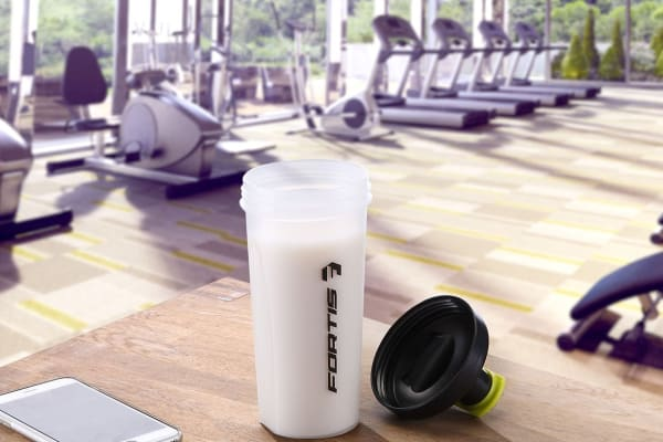 Fortis Set of 5 Gym Protein Shaker Bottles
