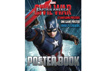 Marvel Captain America Civil War Poster Book - 17 Awesome Posters, One Giant Poster, Over 25 Stickers