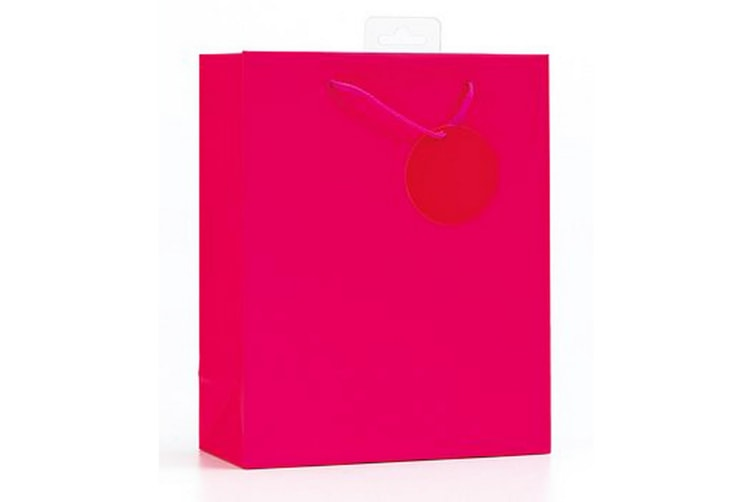 SE Finishing Touch Single Colour Gift Bags (Pack Of 6) (Cerise) (Medium)