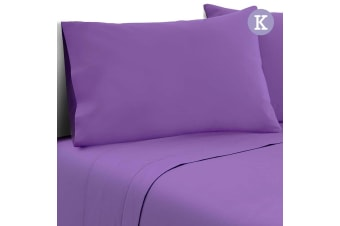 Giselle Bedding 4 Piece Microfiber Sheet Set 1000TC Fitted Flat Pillowcases K