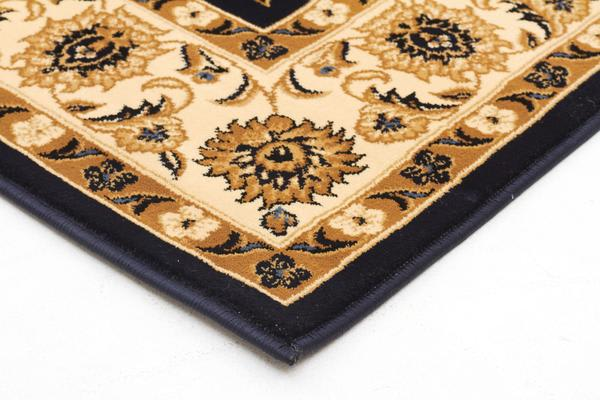 Classic Rug Blue with Ivory Border 330x240cm