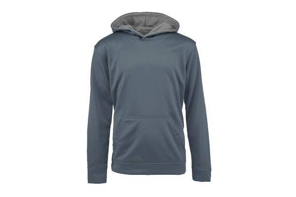 Champion Boys' Solid Performance Pullover Hoodie (Dark Grey, Size M)