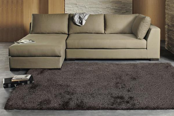 Twilight Shag Rug - Ash Brown 165x115cm