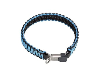 HS Sprenger Lock Closure Paracord Dog Collar (Blue)