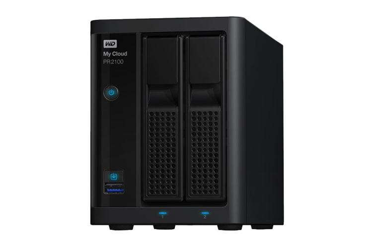 WD My Cloud Pro Series PR2100 20TB NAS Storage Device (WDBBCL0200JBK-SESN)