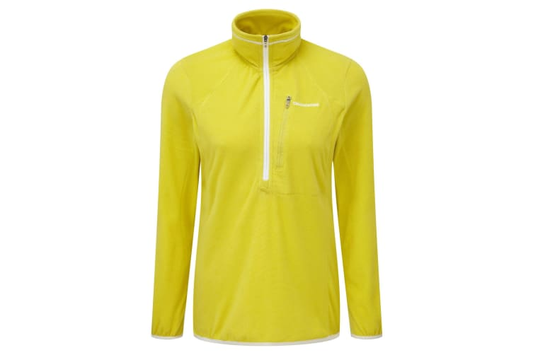 Craghoppers Outdoor Pro Womens/Ladies Pro Lite Half Zip Fleece Top (Citronella) (16)