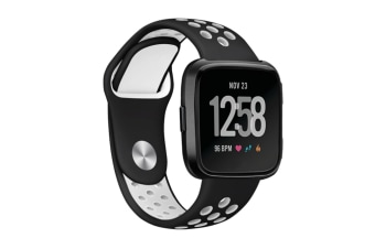 Fitbit Versa Bands Sport Silicone Breathable Strap Replacement Black&White