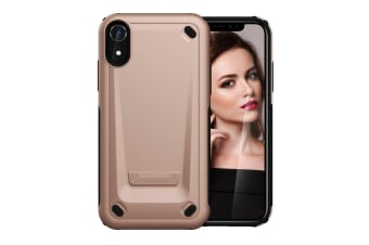 For iPhone XR Rose Gold Case Slim TPU PC Dual Layer Shockproof Protective Cover