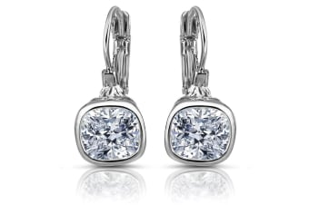 Cleo Leverback Earrings Embellished with Swarovski crystals