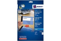 AVERY BUSINESS CARD C32015-25 INKJET QUICK AND CLEAN 25 PACK