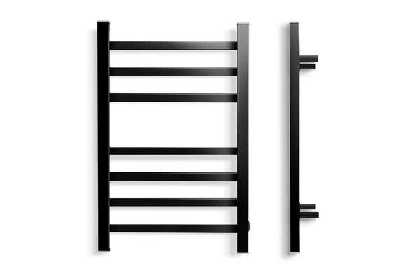 Heated Towel Rail Ladder Electric Warmer Heater 7 Bars Racks Bathroom Black