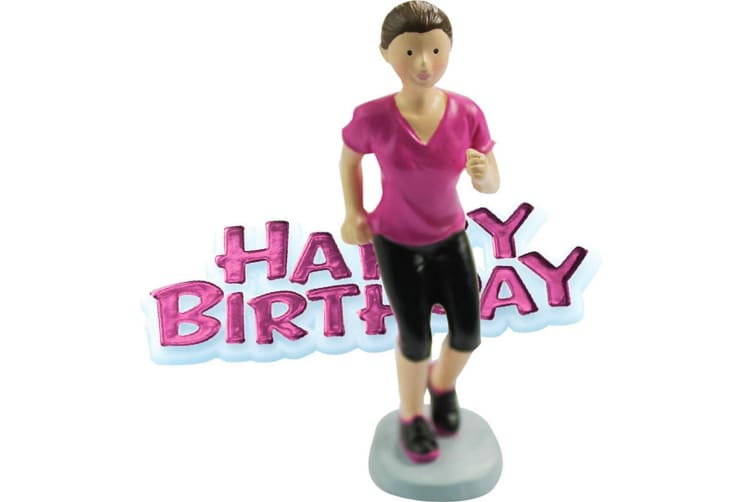 Creative Party Happy Birthday And Runner Cake Topper (Multicoloured) (One Size)