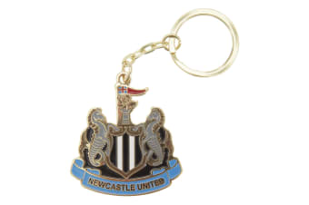 Newcastle United FC Official Metal Football Crest Keyring (Multicoloured)
