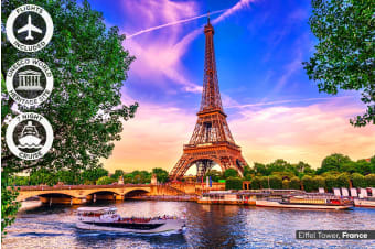 EUROPE: 24 Day European Discovery Tour & Cruise Including Flights for Two