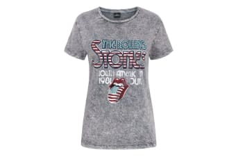 The Rolling Stones Womens/Ladies Acid Wash T-Shirt (Grey)