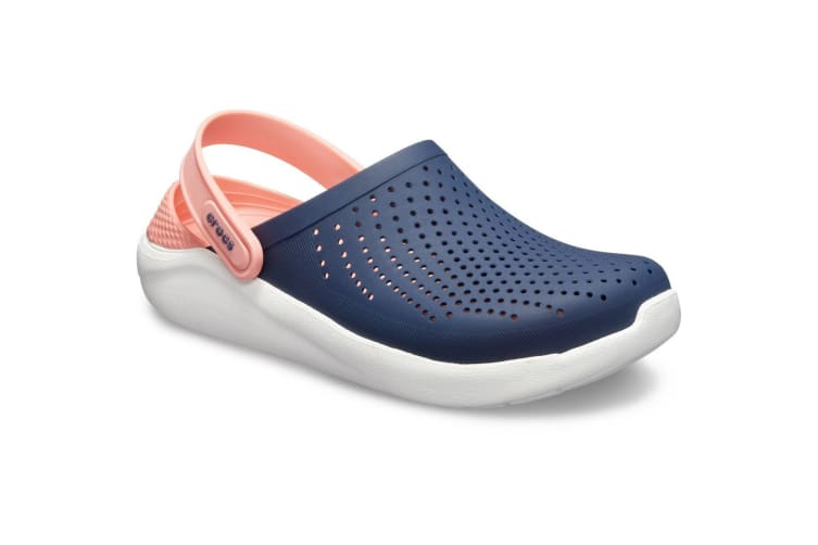 Crocs Unisex Literide Slip On Clogs (Navy/Pink) (8 UK)