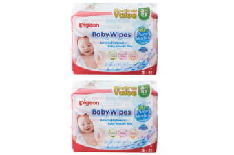 492PC Pigeon Baby/Infant/Kid Soft Pure Water Fragrance Free Absorbent Wet Wipes