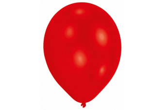 Amscan Plain Party Balloons (Pack Of 10) (10 Colours) (Red) (One Size)