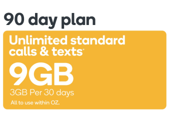 Kogan Mobile Prepaid Voucher Code: SMALL (90 Days | 3GB Per 30 Days)