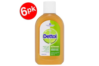 6x Dettol 250ml Antiseptic Surface Disinfectant/Cleaning Home Deodorise/Sanitise