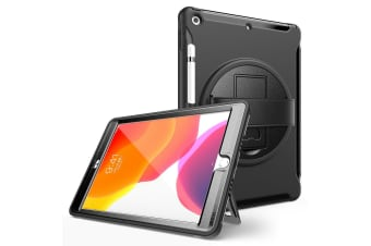 Black Shockproof 360 Rotating Stand Heavy Duty Case Cover for iPad 6th 9.7'' Inch 2018