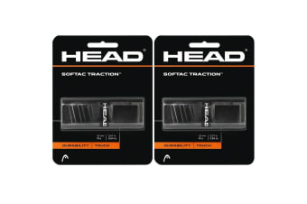 2PK Head SofTac Traction Tennis/Squash Racket/Racquet Handle Grip Tape/Black