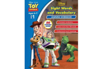 Disney Toy Story - Sight Words and Vocabulary Learning Workbook Level 1