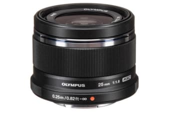 New Olympus M.Zuiko Digital 25mm F1.8 Lens Black (FREE DELIVERY + 1 YEAR AU WARRANTY)