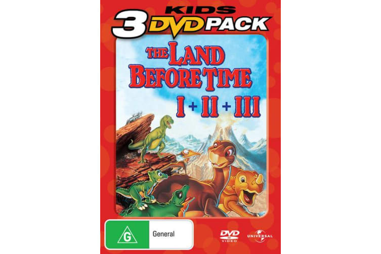 The Land Before Time 1-3 DVD Region 4