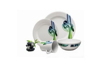 Reimo Lucca Melamine Dinner Set (16 Piece) (White/Blue/Green) (One Size)