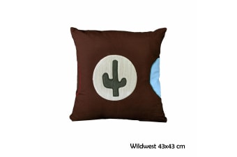 Wildwest 43x43 cm Square Cushion by Happy Kids