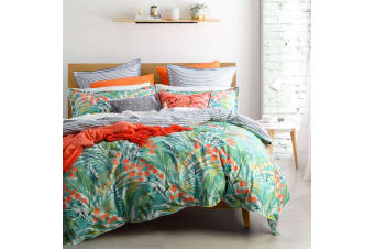 Norfolk Teal Quilt Cover Set Double