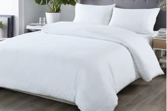 Royal Comfort Blended Bamboo Quilt Cover Set (King, White)