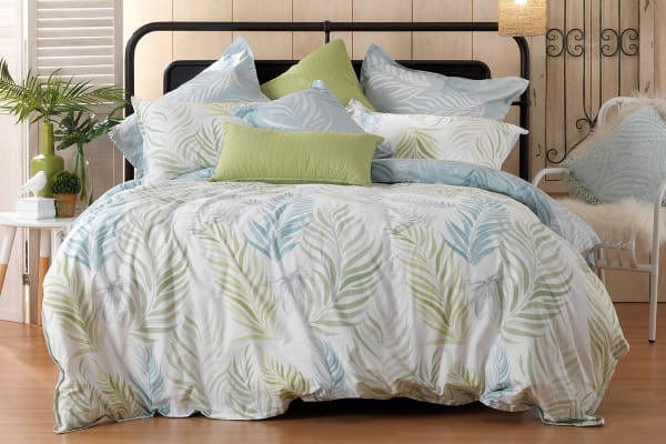 Bianca Palm Cove Quilt Cover Set (Queen)