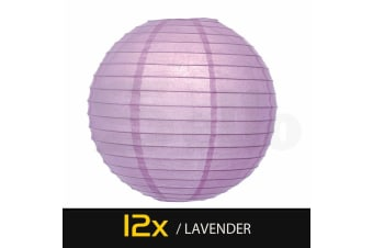 12 Paper Lanterns for Wedding Party Festival Decoration - Mix and Match Colours