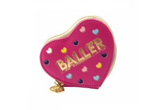 Sweet Tooth Womens/Ladies Baller Heart Purse (Pink)